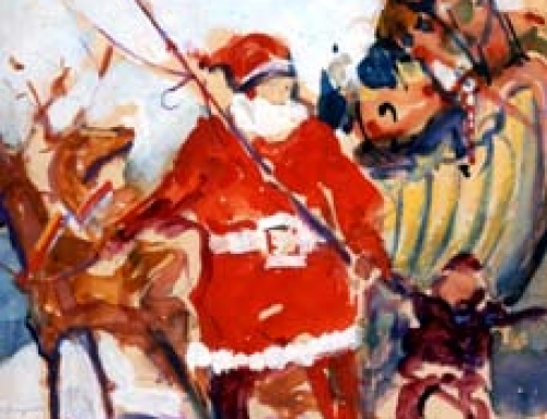(1575s) Santa Claus With Sleigh – Color Sketch
