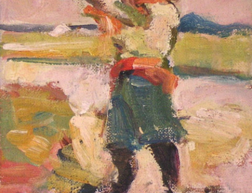 (0690s) Pirate With Spy-Glass – Oil Sketch